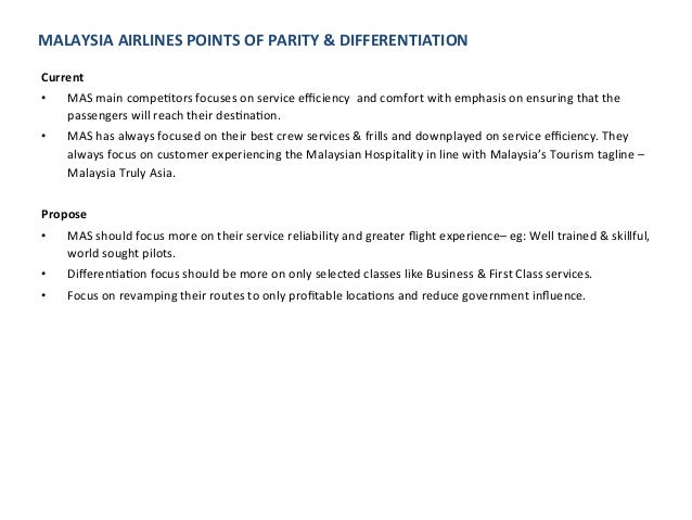 malaysia airlines competitive advantage