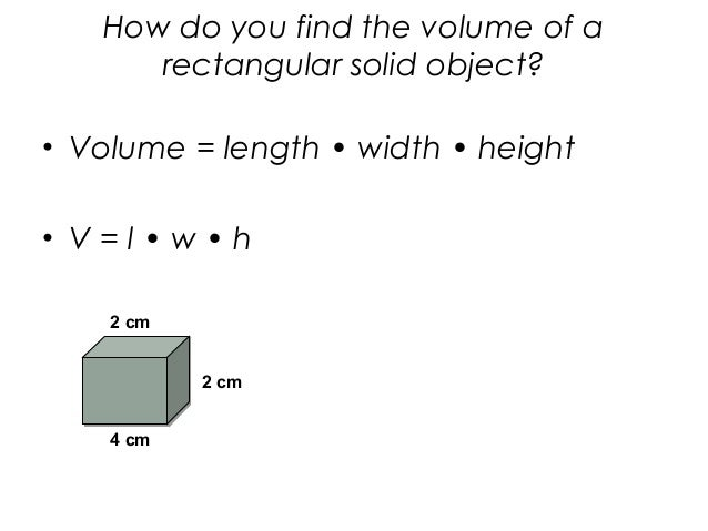 How do you find volume?