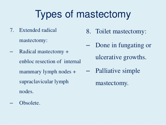 toilet mastectomy