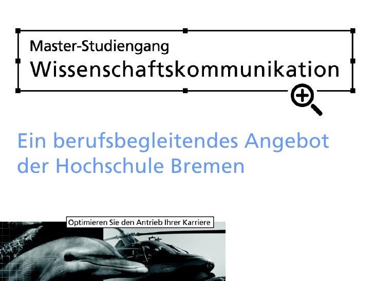 Ein berufsbegleitendes Angebot der Hochschule Bremen