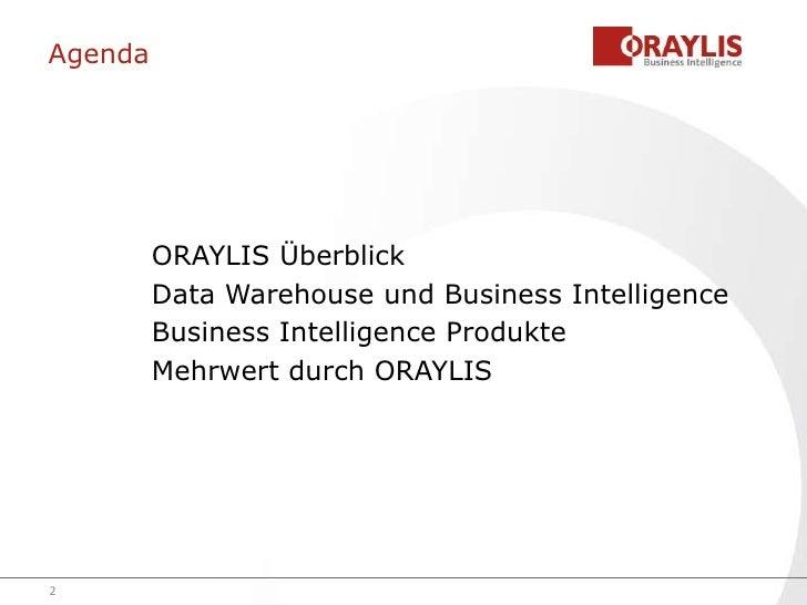 ORAYLIS Unternehmensprofil
