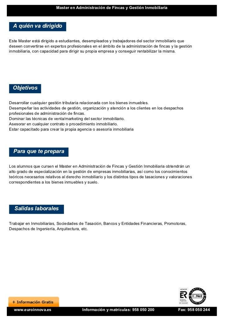 Master administraci n fincas y gesti n inmobiliaria for Oficina de gestion tributaria