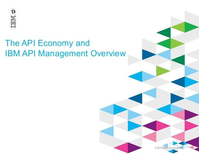 © 2015 IBM Corporation The API Economy and IBM API Management Overview