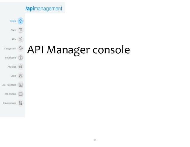 64 API Manager console