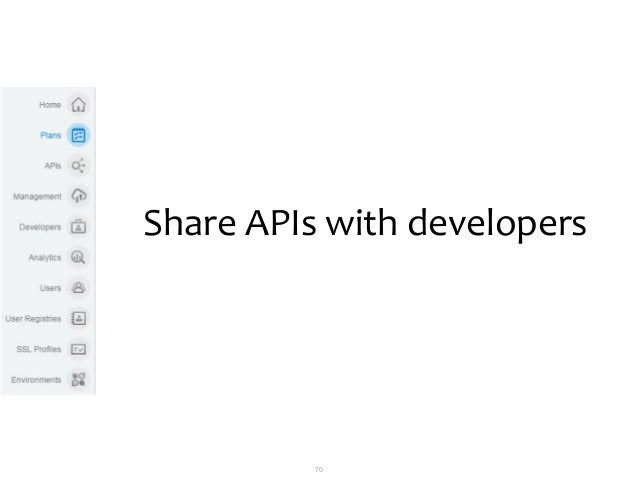 70 Share APIs with developers