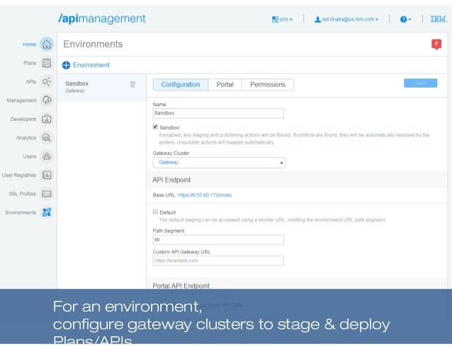 For an environment, configure gateway clusters to stage & deploy Plans/APIs