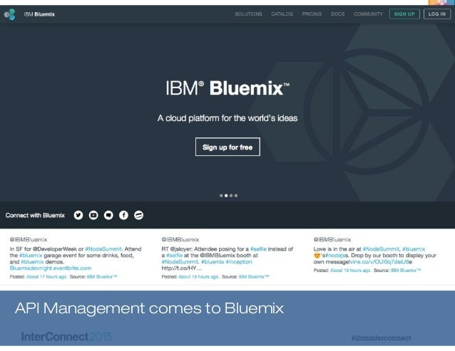 IBM Interconnect 20157 API Management comes to Bluemix
