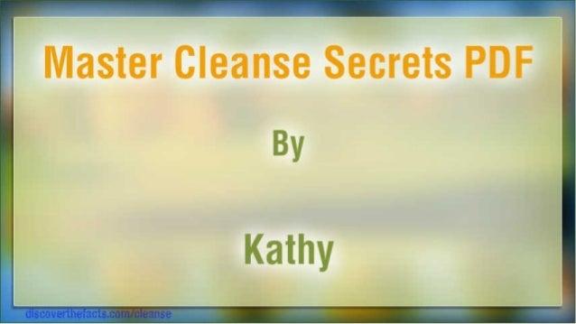 Master Cleanse Secrets PDF By  Kathy