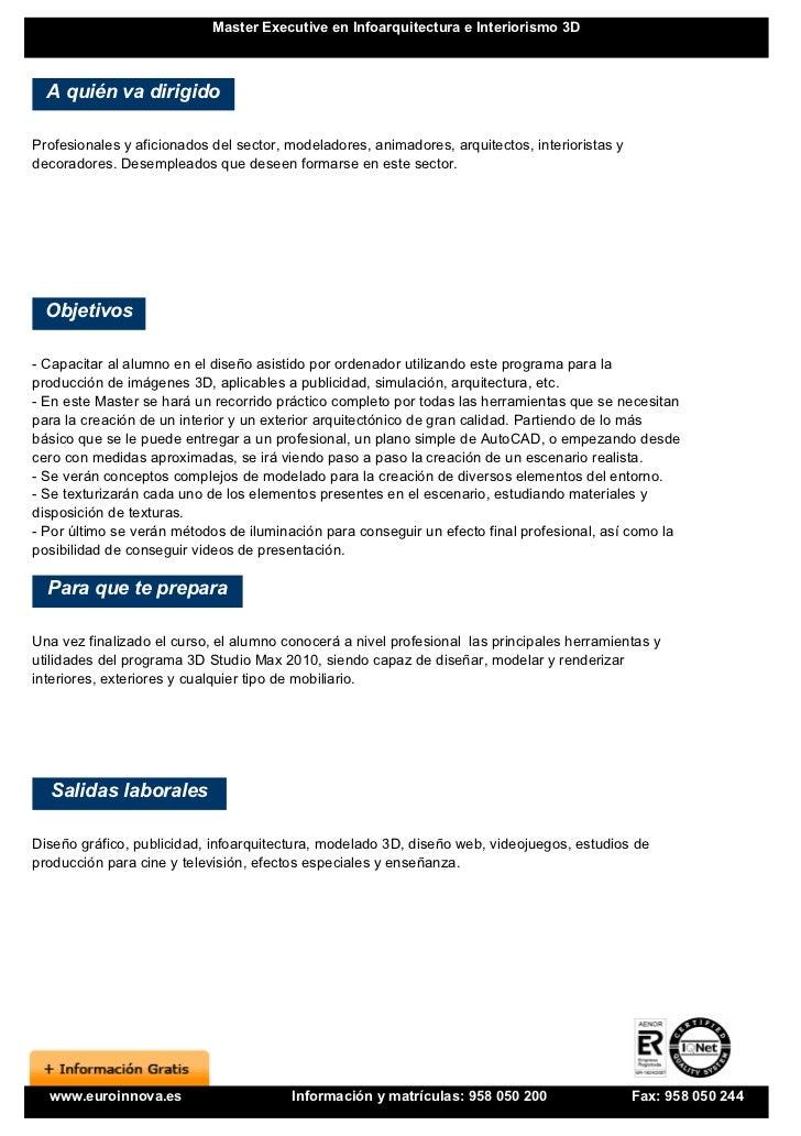 Master en infoarquitectura e interiorismo 3d for Programa interiorismo