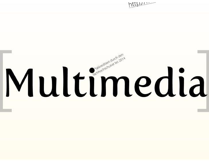Master Studiengang Multimediaart an der Fachhochschule Salzburg