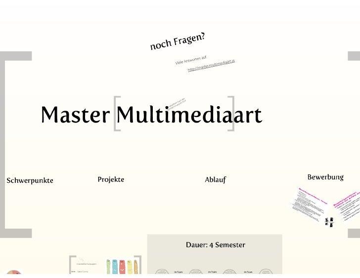 Master Studiengang Multimediaart an der Fachhochschule Salzburg Slide 2