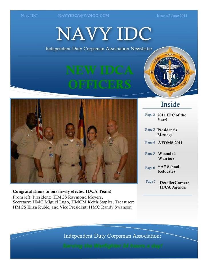 Navy IDC          NAVYIDCA@YAHOO.COM                               Issue #2 June 2011                    NAVY IDC         ...