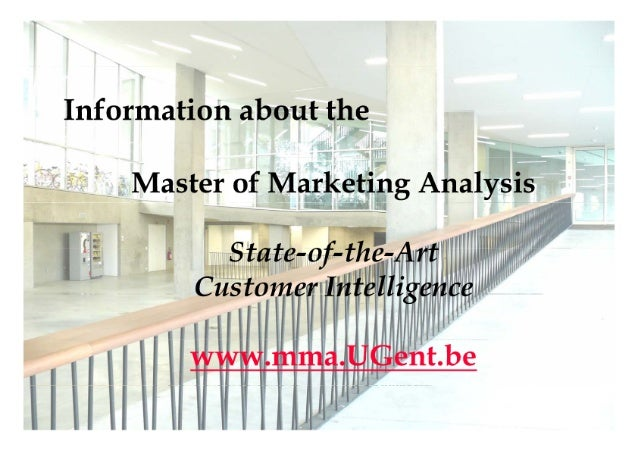Master of Marketing Analysis: Advanced master program in customer intelligence