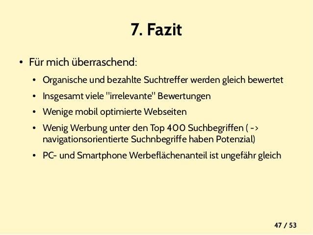 Masterarbeit Mobile Search Advertising Vergleich Der Webseiten Von
