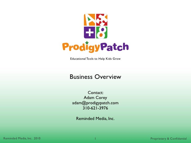 Educational Tools to Help Kids Grow                                 Business Overview                                     ...
