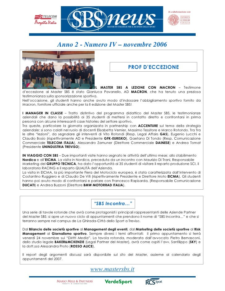 Anno 2 - Numero IV – novembre 2006                                                                   PROF D'ECCEZIONE     ...