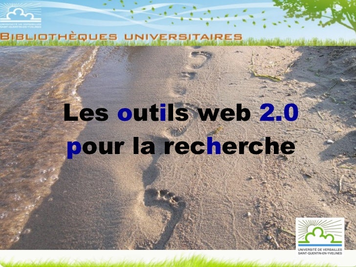 Les  o ut i ls web  2.0 p our la rec h erche