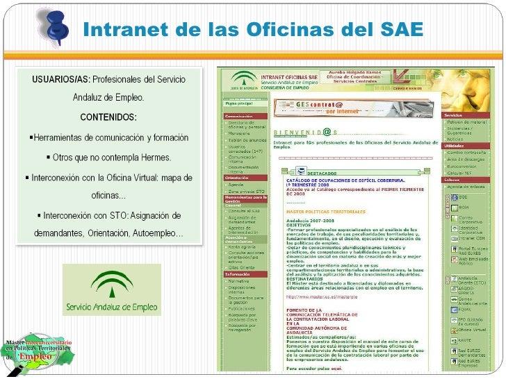 Nuevas tecnolog as en el servicio andaluz de empleo for Oficina de empleo sae