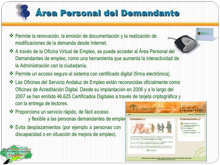 Nuevas tecnolog as en el servicio andaluz de empleo for Oficina vertual de empleo