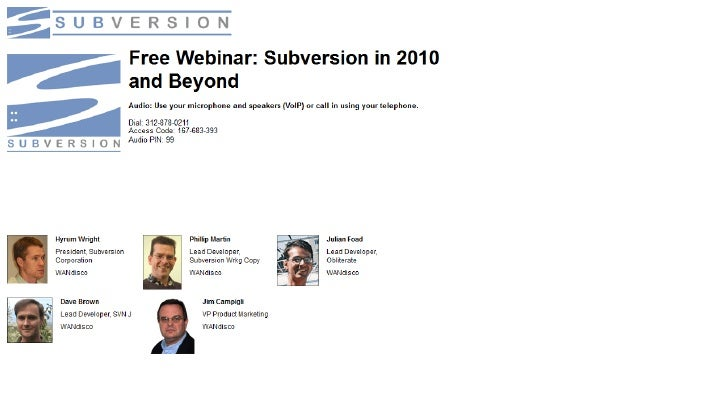 Subversion in 2010 and Beyond Slide 1