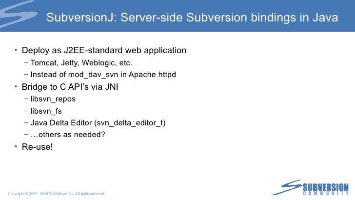 Server or Client client server svnadmin svn obliterate ... repo WC
