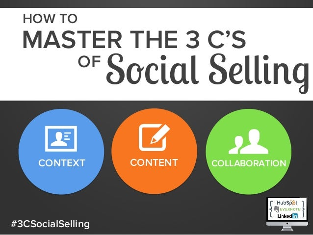 HOW TO  MASTER THE 3 C'S OF  CONTEXT  #3CSocialSelling  Social Selling CONTENT  COLLABORATION