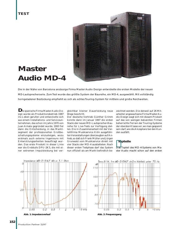 TEST           Master       Audio MD-4       Die in der Nähe von Barcelona ansässige Firma Master Audio Design entwickelte...