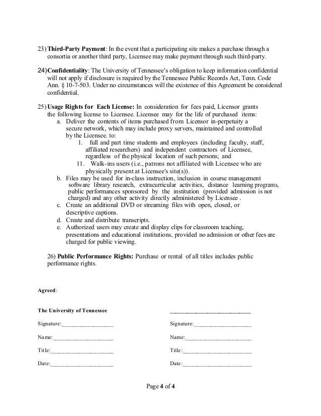 Master agreement template streaming media page 3 of 4 4 platinumwayz