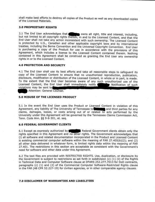 Sample Completed Master Agreement – Sample Commercial Security Agreement Template