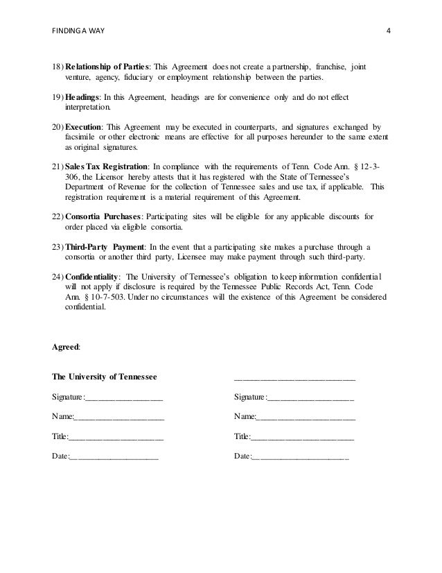 Master Agreement Template  Standard