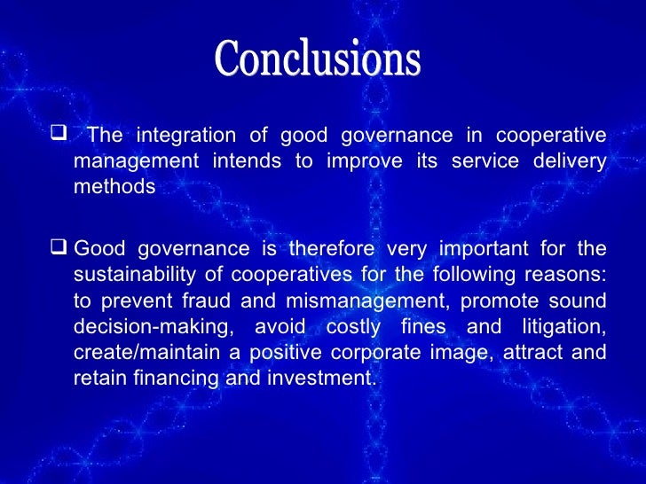Good governance master thesis