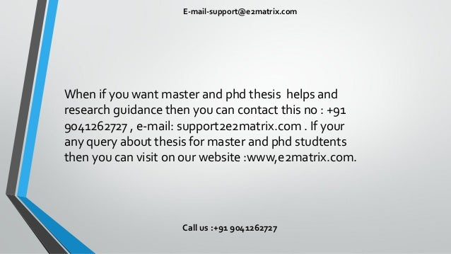 Master ph d thesis abstracts