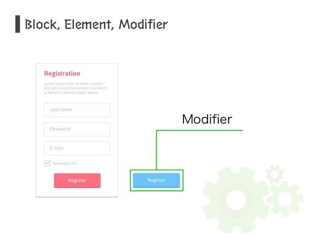 Block, Element, Modifier  Modifier