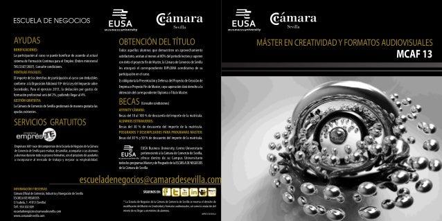 Master en Creatividad y Formatos Audiovisuales