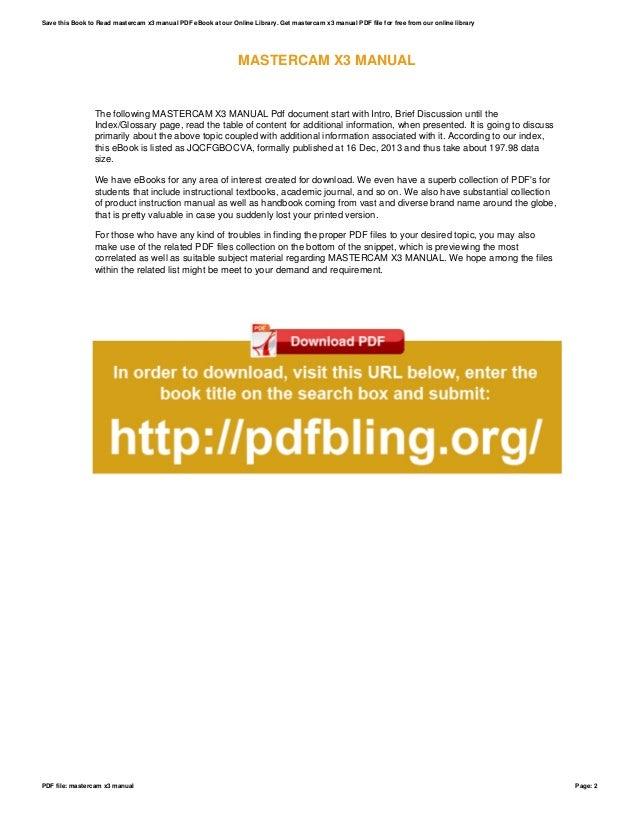 ebook mastercam x3 training guide online user manual u2022 rh pandadigital co mastercam x5 manual español manual mastercam x5 español pdf