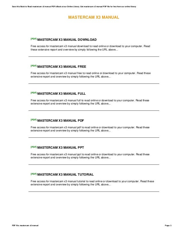 mastercam x3 manual open source user manual u2022 rh dramatic varieties com
