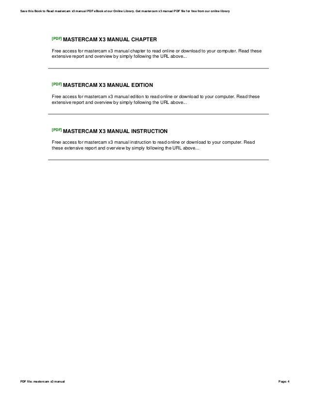 mastercam x3 manual open source user manual u2022 rh dramatic varieties com Mastercam Wallpaper Mastercam 9
