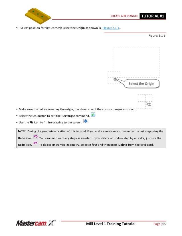 mastercam x6 mill level 1 tutorial 1 rh slideshare net