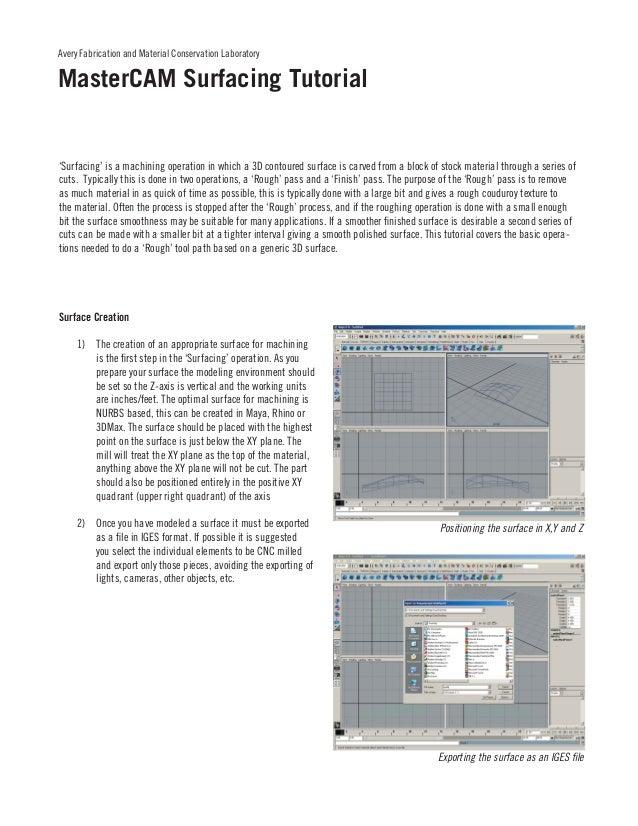 mastercam tutorial rh slideshare net
