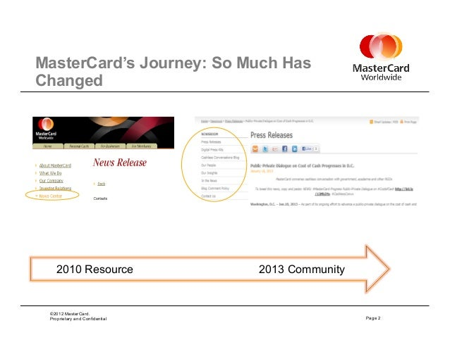 MasterCard's Jennifer Stalzer presents The Evolution of the Corporate Newsroom at Percolate's #SPEAKEASY #CMAD event Slide 2