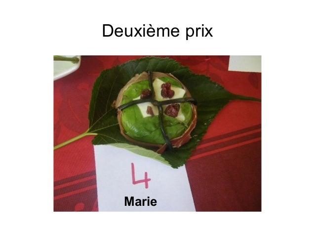 Deuxième prix Marie