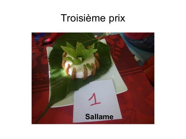 Troisième prix Sallame