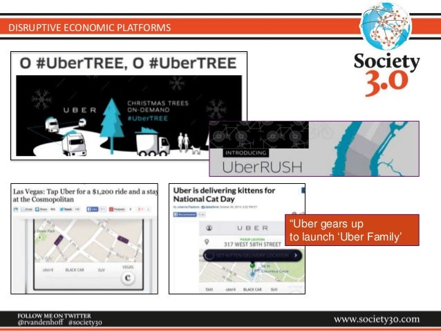 """DISRUPTIVE ECONOMIC PLATFORMS """"Uber gears up to launch 'Uber Family'"""