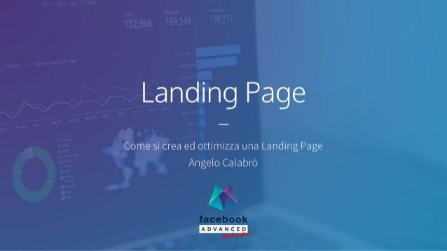 LandingPage:comesi crea ed ottimizza una LandingPage.