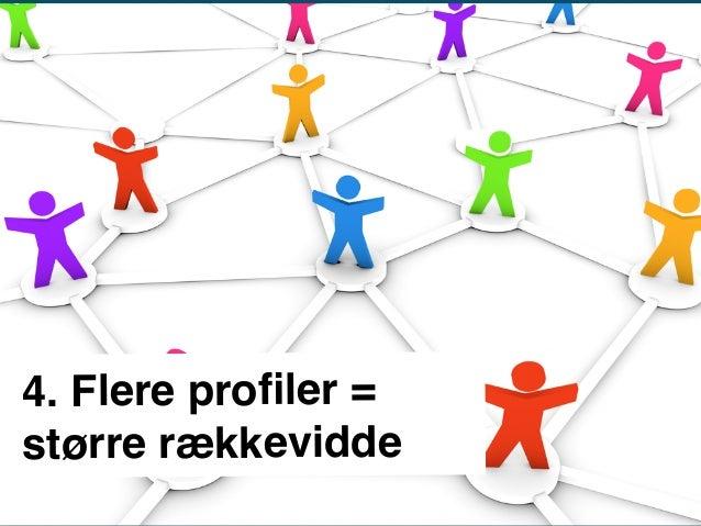 4. Flere profiler = større rækkevidde