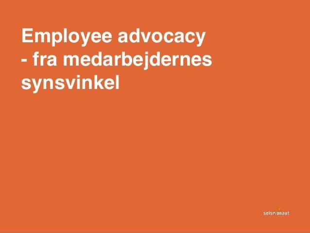 Employee advocacy - fra medarbejdernes synsvinkel