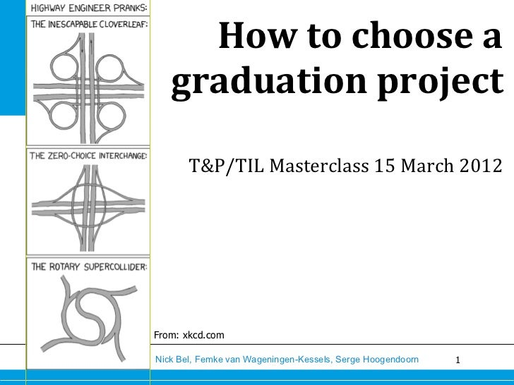 How	  to	  choose	  a	     graduation	  project	                                                                  	       ...