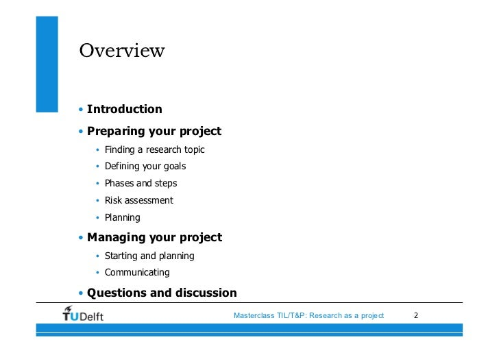 how to start an introduction for a project