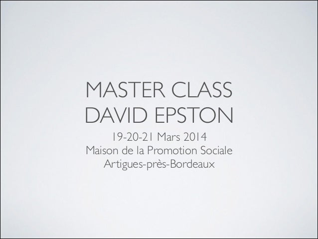 MASTER CLASS