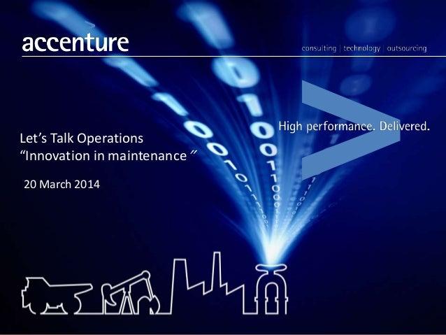 innovation in maintenance